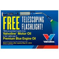 Valvoline Telescoping Flashlight Promotion